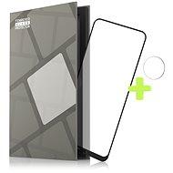 Schutzrahmen Tempered Glass Protector für Nokia 3.4 - schwarz + Glas für Kamera - Schutzglas