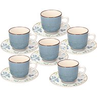 Tognana Metropolis Gaia Tee, 6 Stück mit Untertassen - Tasse + Untertasse