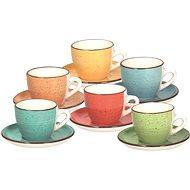 Tognana Tassen mit Untertassen 90ml LOUISE ART&PEPPER 6 Stück - Tasse + Untertasse