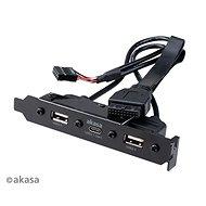 Akasa USB 3.1 Gen1 Typ C zu PCI mit zwei USB 2.0 Typ A / AK-CBUB53-40BK