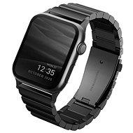 Uniq Strova Apple Watch Gelenkarmband aus Stahl 44 mm / 42 mm - Midnight Black - Armband