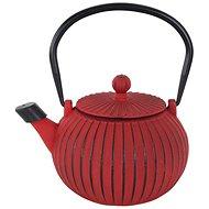 Teekanne aus Gusseisen 1,15 Liter - rot - Teekanne