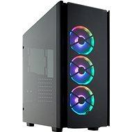 Corsair 500D RGB SE Obsidian Series schwarz mit transparenter Seitenwand - PC-Gehäuse
