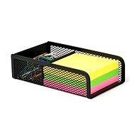 VICTORIA Notizzettel-Box aus Draht, schwarz - Notizzettel-Box