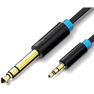 Vention 6.5mm Jack Male to 3.5mm Male Audio Cable 1m Black - Audio Kabel