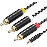 Vention AV Kabel 3,5 mm Klinke auf 3 x RCA - 2m - schwarz - Videokabel