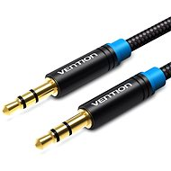 Vention Cotton Braided 3.5mm Jack Male to Male Audio Cable 1.5m Black Metal Type - Audio Kabel