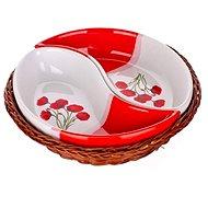 Set BANQUET RED POPPY 20,5 cm A00833 - Schüssel-Set