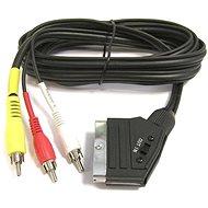 PremiumCord Kabel SCART - 3 x CINCH M/M 1,5 m mit Schalter - Videokabel