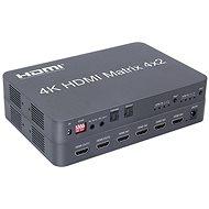 PremiumCord HDMI matrix switch 4:2 mit Audio, 4K x 2K und FULL HD 1080 p - Switch