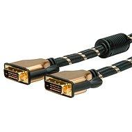 ROLINE Gold DVI Dual Link, Ferrite, 7,5 m - Videokabel
