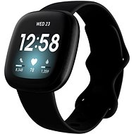 Fitbit Versa 3 - Black/Black Aluminum - Smartwatch