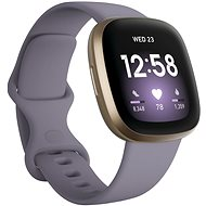 Fitbit Versa 3 - Thistle/Soft Gold Aluminum - Smartwatch