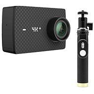 YI 4K + Action-Kamera Schwarz + YI Selfie-Stick & YI-Bluetooth-Fernbedienung im Selfiestab - Digitalkamera
