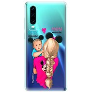iSaprio Mama Mouse Blonde and Boy for Huawei P30 - Mobile Case