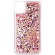 iWill Glitter Liquid Heart Case für Apple iPhone 11 Pink - Handyhülle
