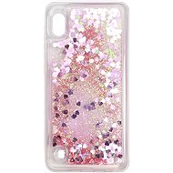 iWill Glitter Liquid Heart Case für Samsung Galaxy A10 Pink
