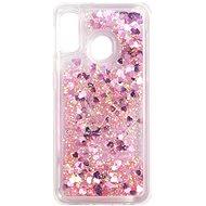 iWill Glitter Liquid Heart Case für Samsung Galaxy A20e Pink - Handyhülle