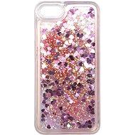 iWill Glitter Liquid Heart Case für Apple iPhone 7 / 8 / SE 2020 Pink - Handyhülle