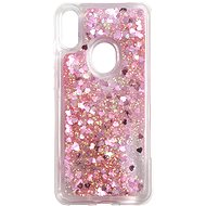 iWill Glitter Liquid Heart Case für Honor 8A / Huawei Y6s Pink - Handyhülle