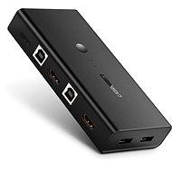Ugreen 2 In 1 Out HDMI + USB-B + USB-A KVM Switch Black - Switch