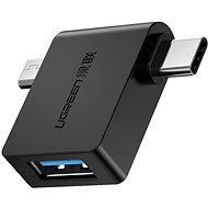 Ugreen Micro USB (M) + USB-C (M) zu USB 3.0 (F) OTG Adapter Schwarz