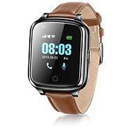 WowME Senior Watch - schwarzes Leder - Smartwatch