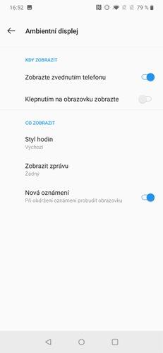 OnePlus 7 Pro Ambientní displej