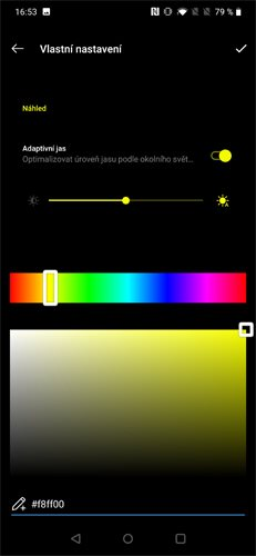 OnePlus 7 Pro Barevné rozhraní