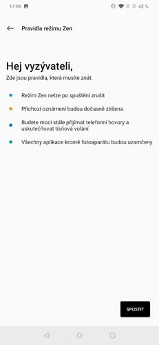 OnePlus 7 Pro Zen pravidla