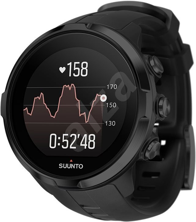suunto spartan sport wrist hr all black sportuhr. Black Bedroom Furniture Sets. Home Design Ideas
