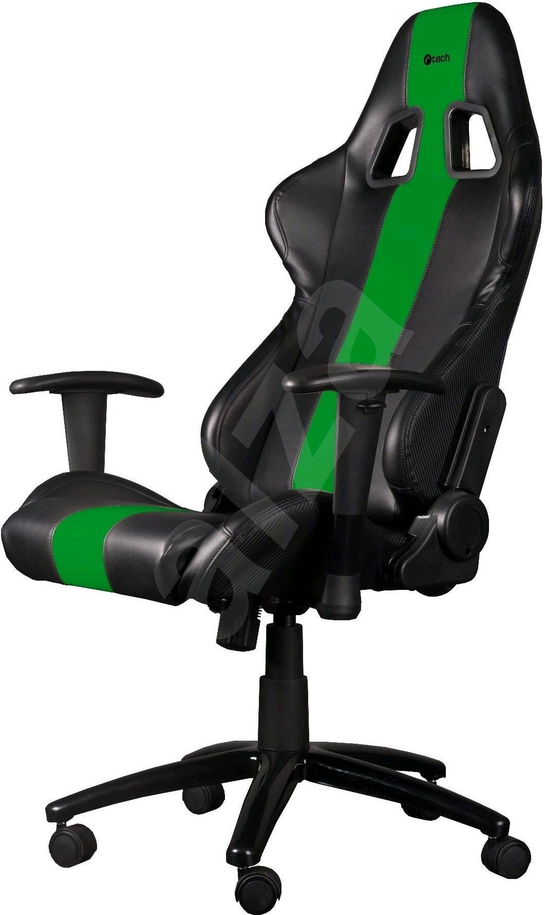 c tech phobos schwarz und gr n gaming st hle. Black Bedroom Furniture Sets. Home Design Ideas