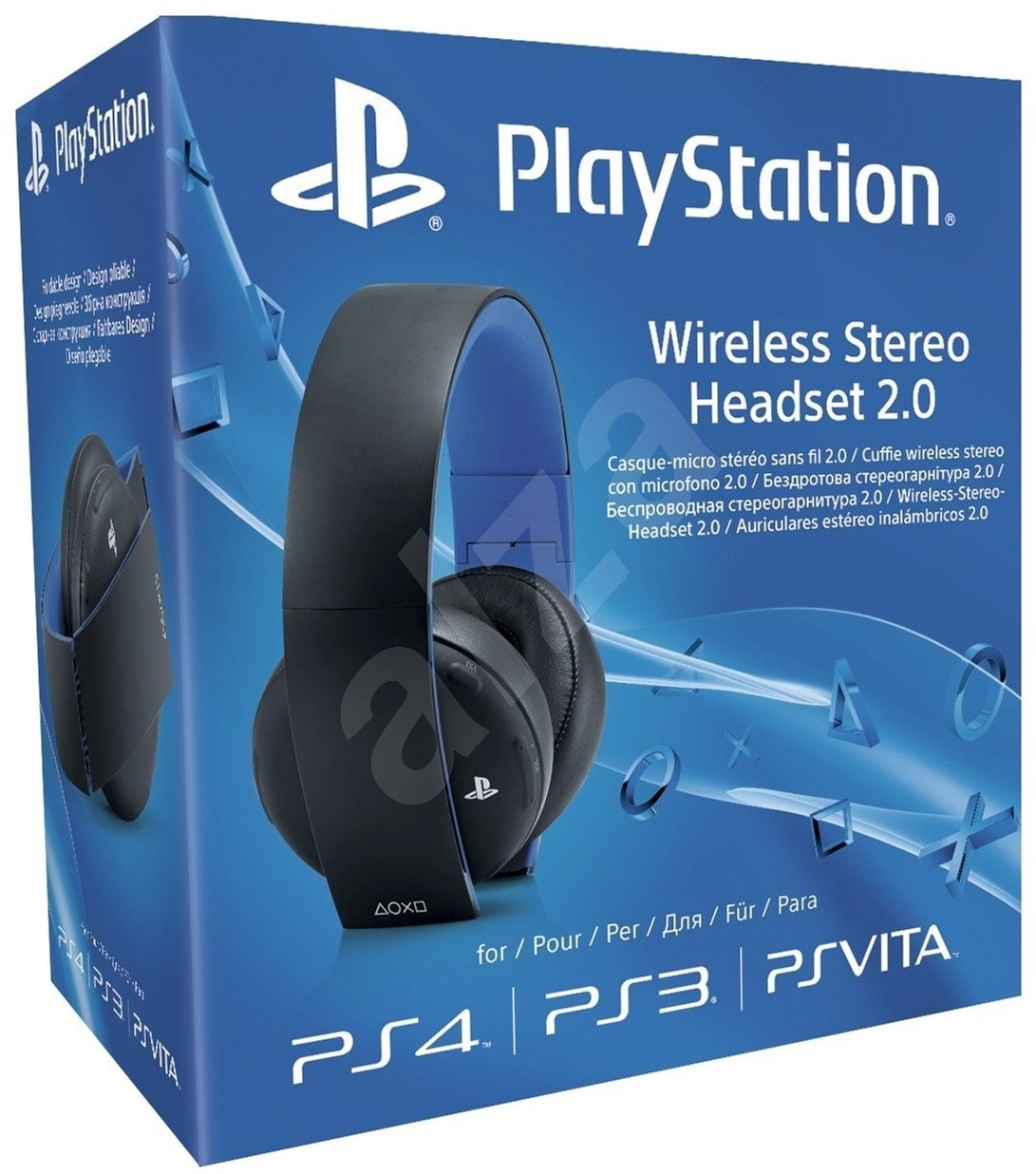 sony ps4 wireless stereo headset 2 0 boxed drahtlose. Black Bedroom Furniture Sets. Home Design Ideas
