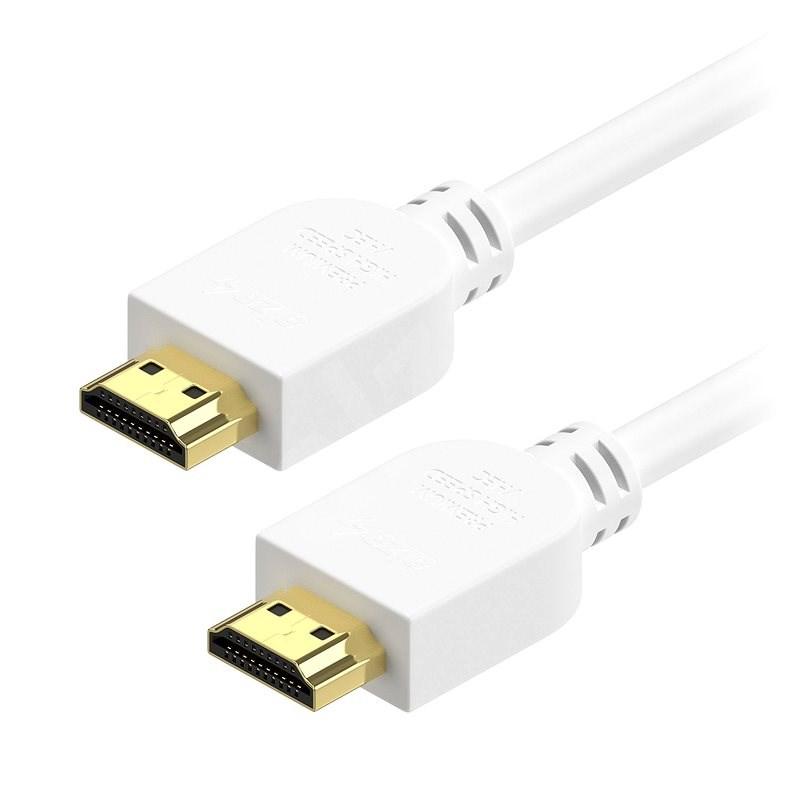 AlzaPower Premium HDMI 2.0 High Speed 4K 3m weiß - Videokabel