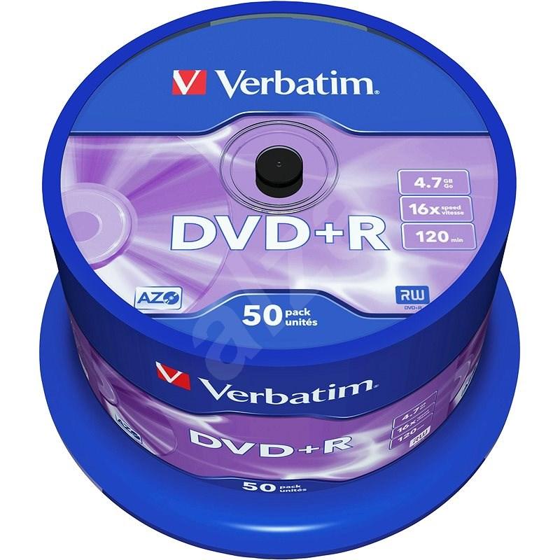 DVD + R Verbatim 4,7 GB 16x Geschwindigkeit, Paket 50 Stk. Cakebox - Media