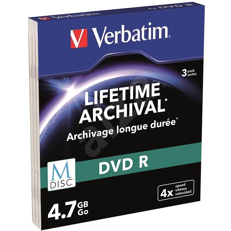 VERBATIM M-DISC DVD-R 4X 4,7GB MATT SILBER SLIM - 3 Stück - Media