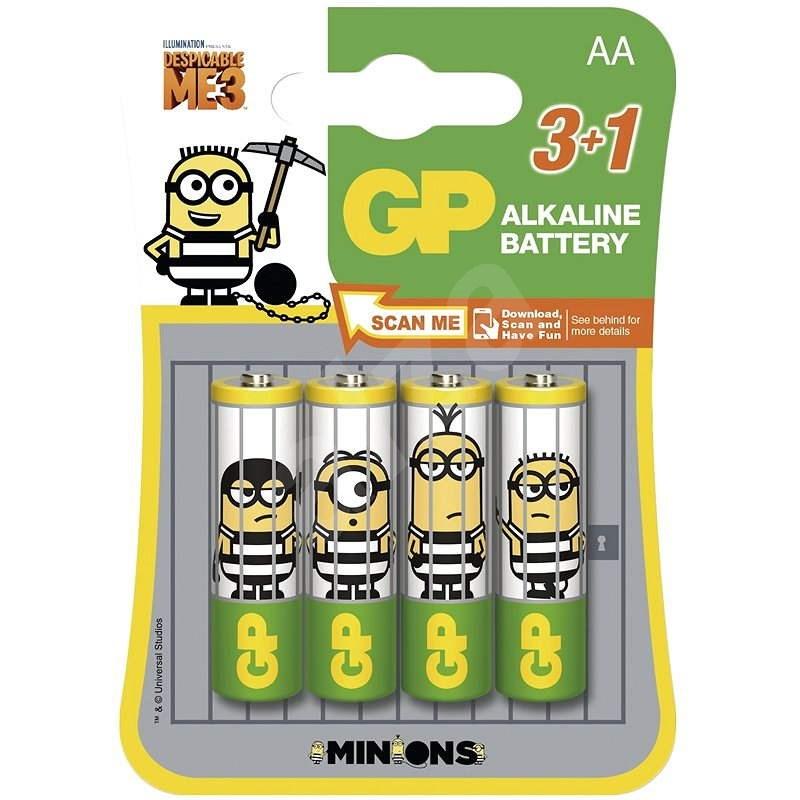 GP Minion LR6 (AA) 3+1 Stück in Blister - Einwegbatterie