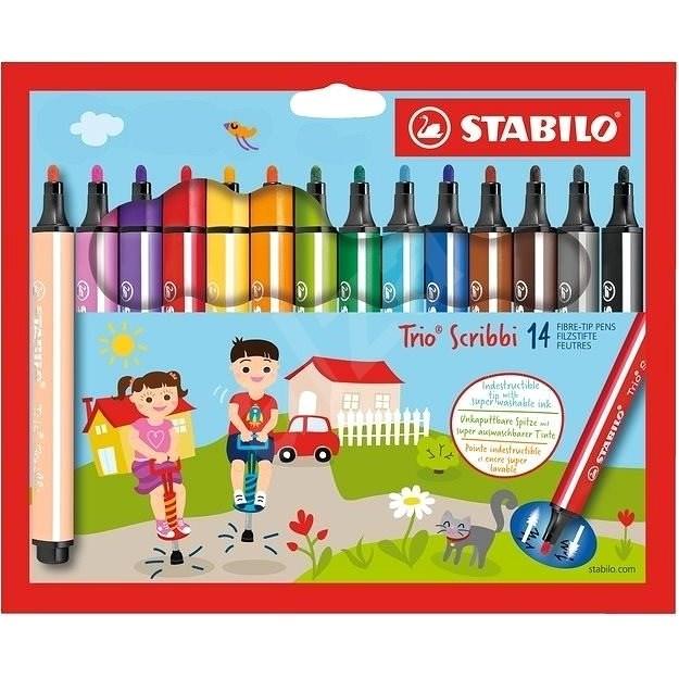 STABILO Trio Scribbi 14 Farben - Filzstifte