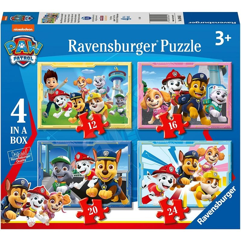 Ravensburger 030651 PAW Patrol 4 in 1 - Puzzle