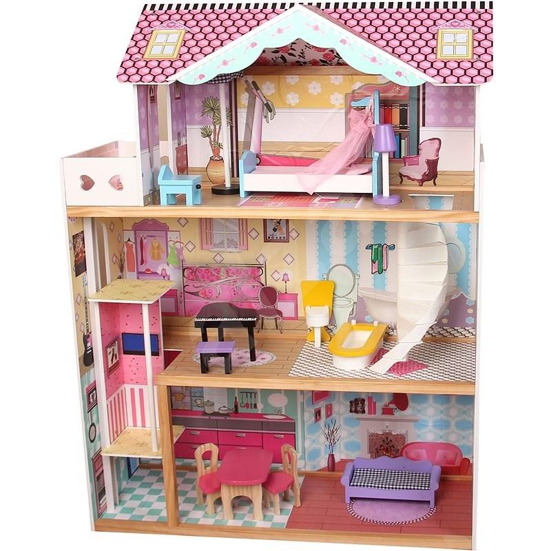 Wiky Holzhaus für Puppen 82x30x110 cm - Puppenhaus