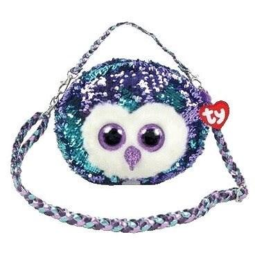 Ty Fashion Sequins Handtasche mit Pailletten MOONLIGHT - Eule - Stoffspielzeug