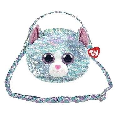 Ty Fashion Sequins Glitzer Handtasche WHIMSY - Katze - Stoffspielzeug