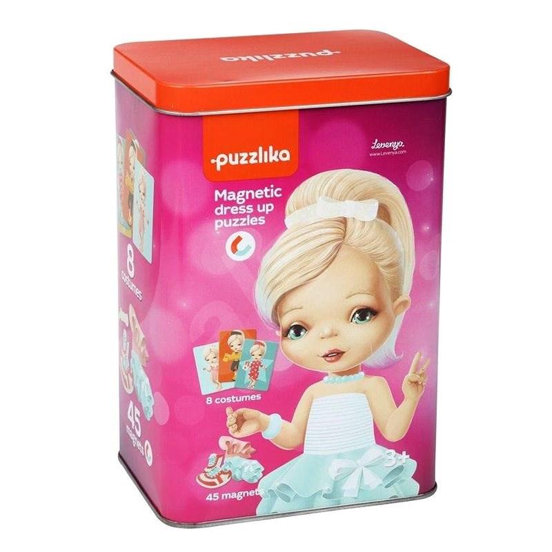 Puzzlika 14293 Magnetic Doll II - Magnetspiel aus 45 Teilen und 8 Vorlagen - Kreativset