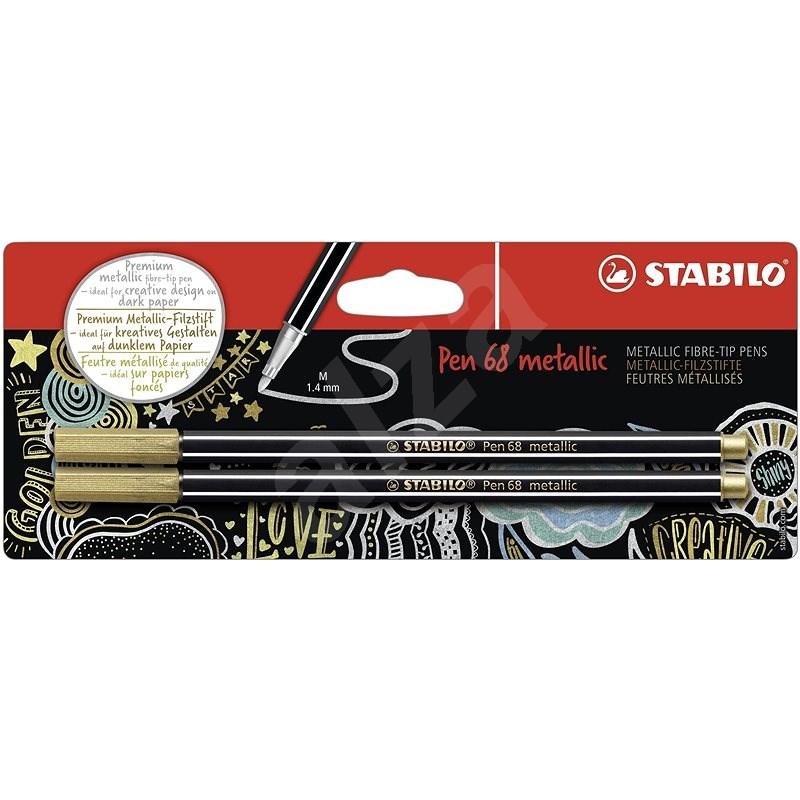 STABILO Pen 68 Metallic 2 pcs Gold in Blister - Felt Tip Pens