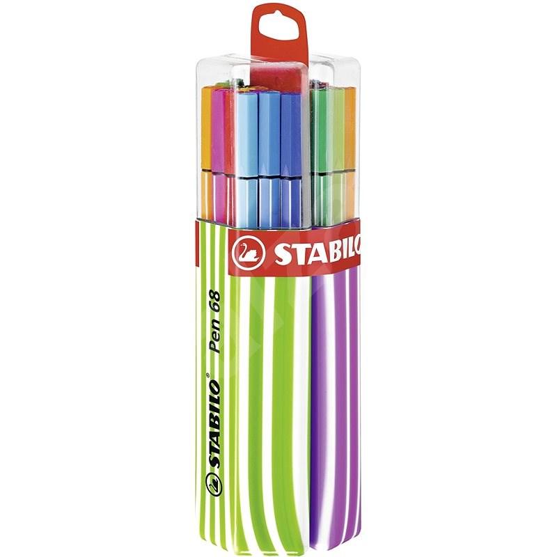 STABILO Pen 68 20 pcs Twin Pack Pink/Green - Felt Tip Pens