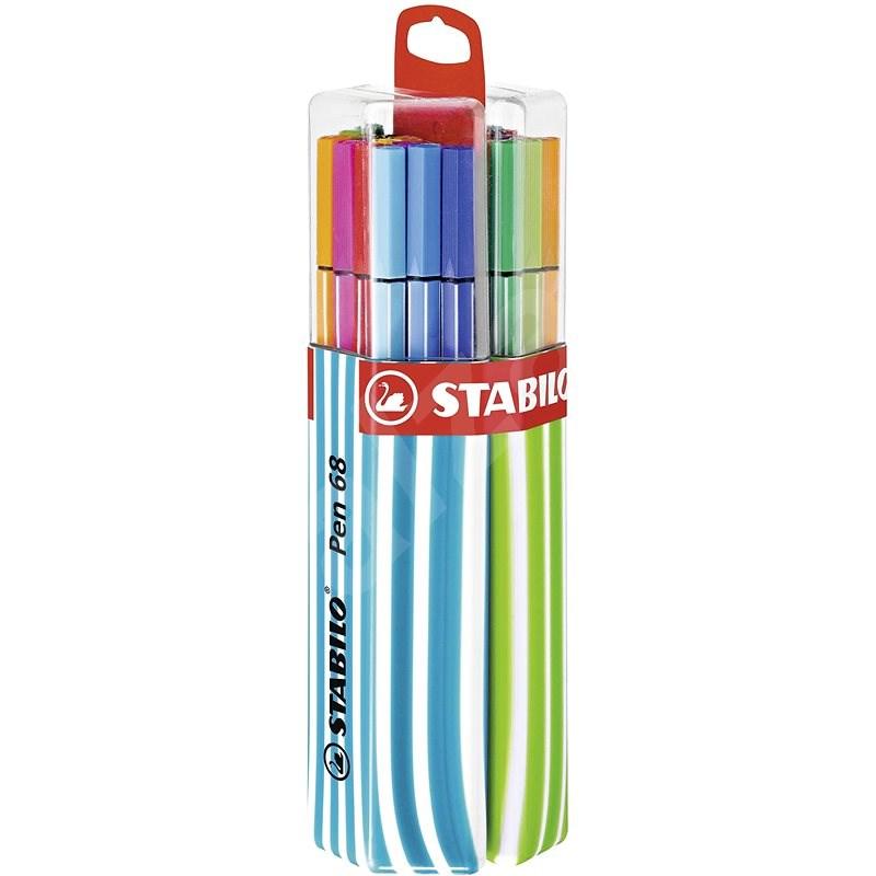 STABILO Pen 68 20 pcs Twin Pack Blue / Green, Hanging - Felt Tip Pens