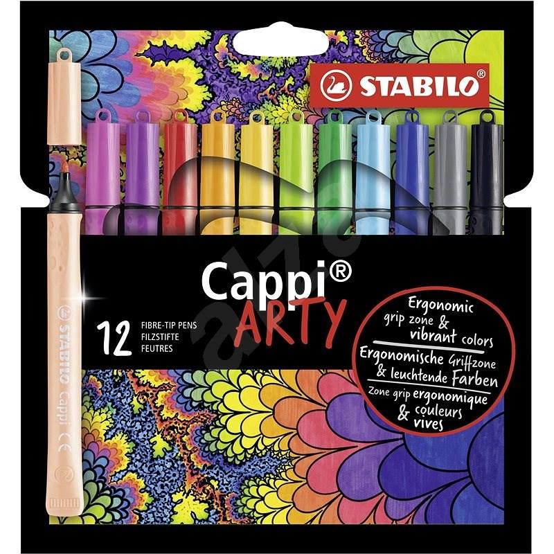 """STABILO Cappi 12 pcs Case """"ARTY"""" - Felt Tip Pens"""