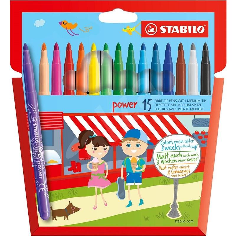 STABILO Power 15 pcs Case - Felt Tip Pens