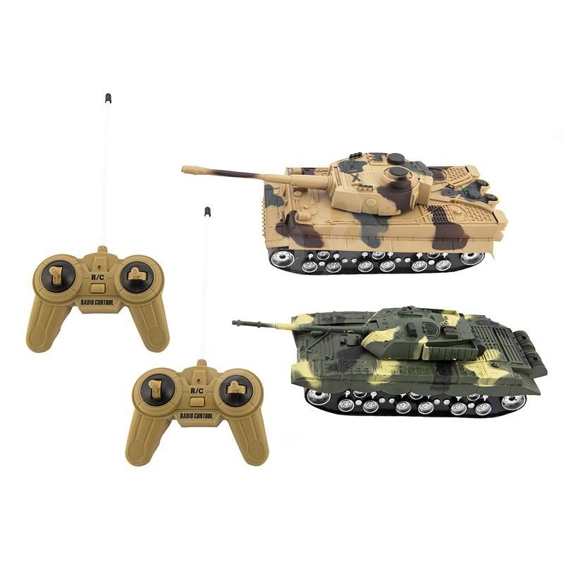 Teddies Military War Tank - 2 RC Kampfpanzer - 25 cm - Panzer mit Fernsteuerung
