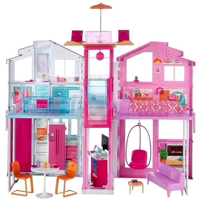 Mattel Barbie 3 Etagen Stadthaus - Zubehör für Puppen